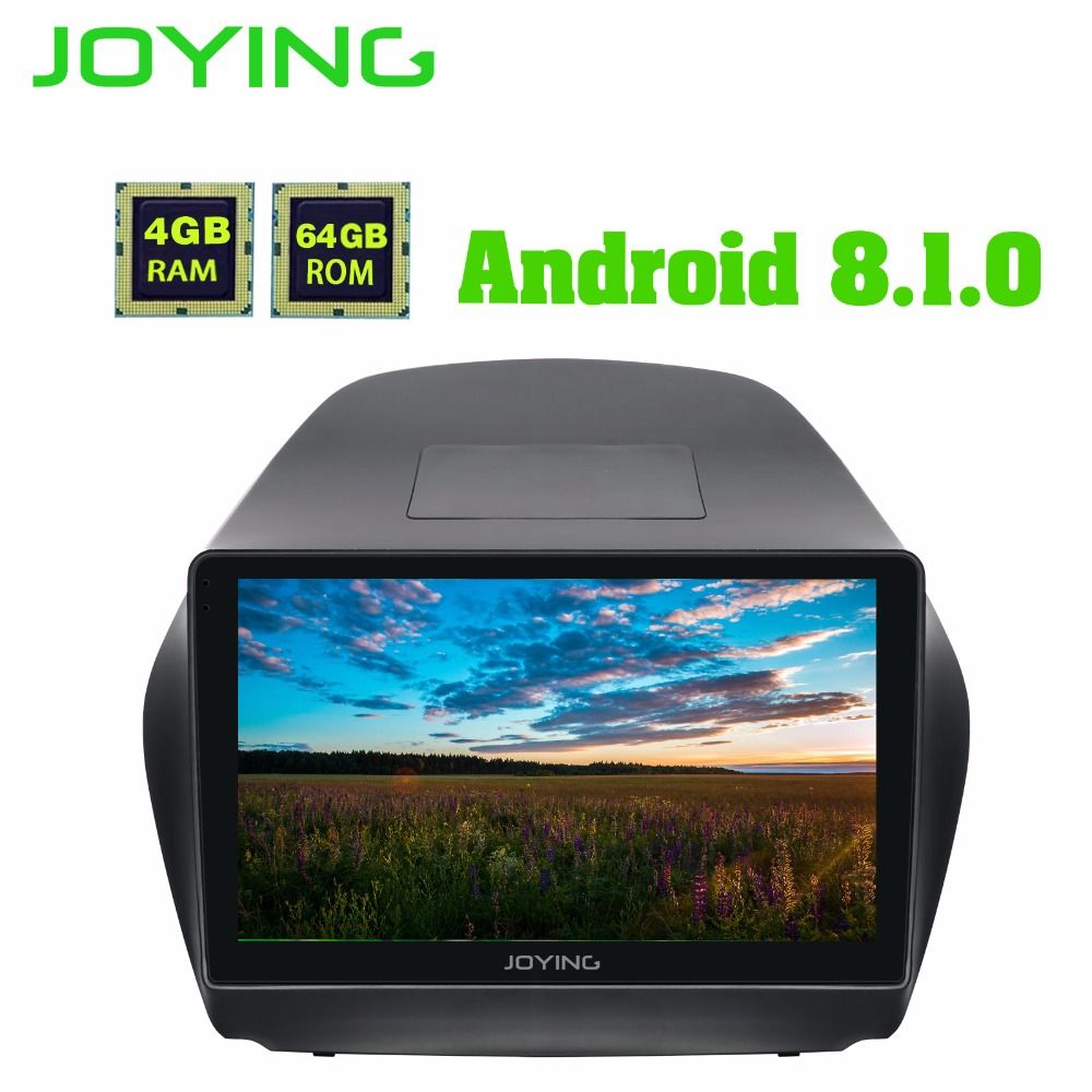 JOYING 10.1 Inch Android 8.1 GPS Stereo DVD Radio 4+64GB Head Unit for Hyundai TUCSON IX35 2009-2015 with Carplay WiFi Bluetooth