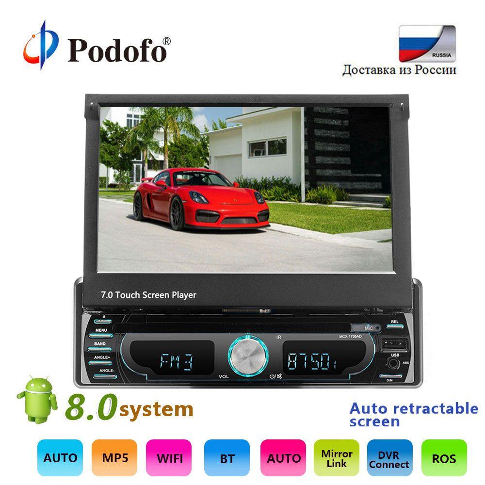 Podofo Universal 7 ''DVD-Player Auto Stereo Radio-Player GPS Navigation Versenkbare MP5 Player Bluetooth FM Auto Multimedia-Player