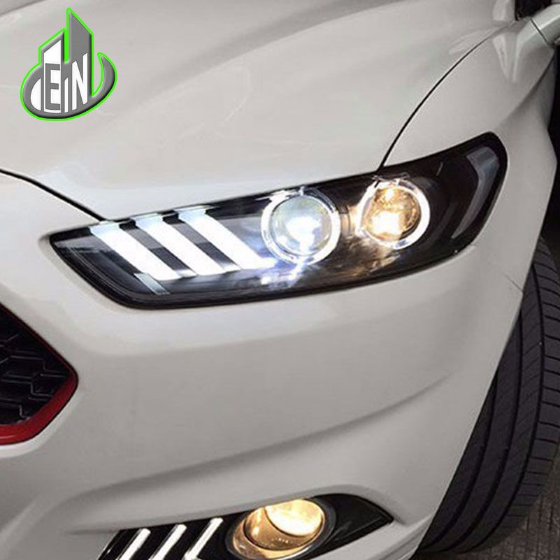 EN Car Styling for Ford Mondeo Headlights 2013 2014 2015 Fusion LED Headlight Original DRL Bi Xenon Lens High Low Beam Parking