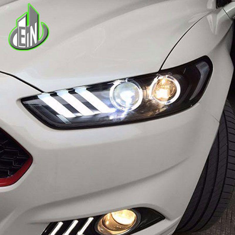 EN Car Styling for Ford Mondeo Headlights 2013 2014 2015 Fusion LED Headlight Original DRL Bi Xenon Lens High Low Beam Parking