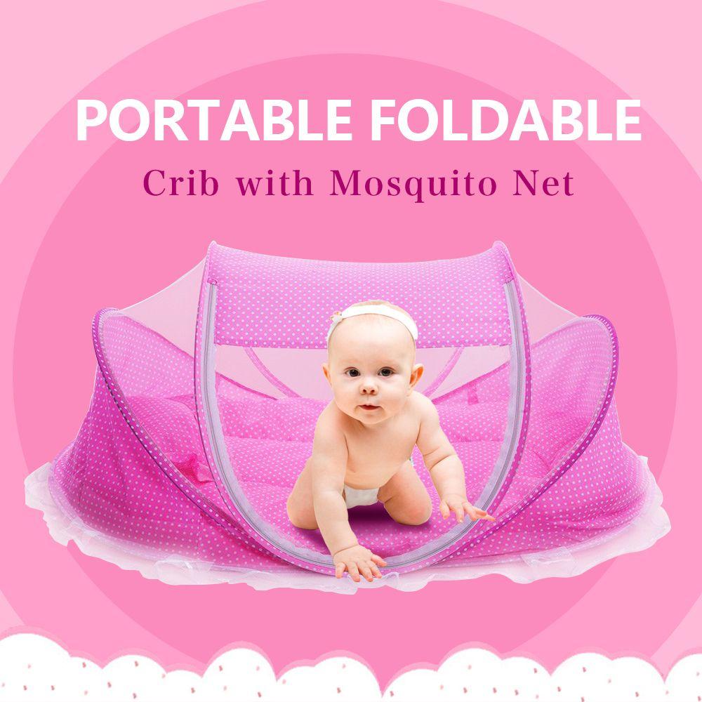 5 шт./компл. детские кроватки От 0 до 3 лет для новорожденных сна путешествия-кровать складная с Подушка Коврик комплект Портативный складной ...
