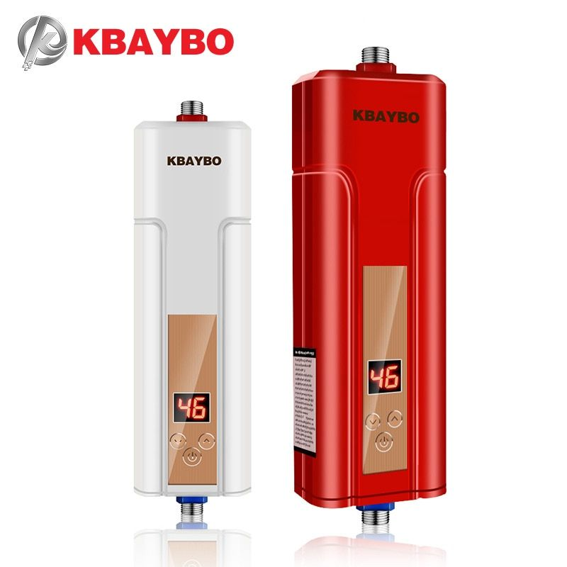 5500W instantaneous water heater tap Red water heater instant water heater electric shower free shipping