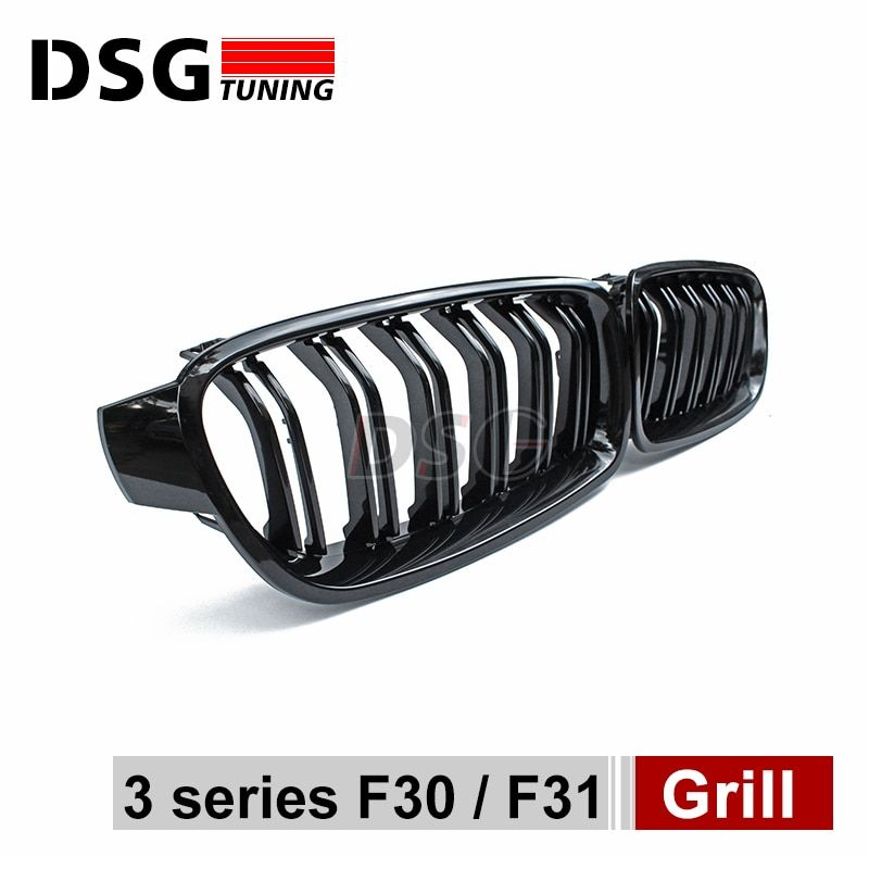 F30 M3 style grill black kidney grille styling bumper grid for BMW 3 Series 2012 + F30 F31 F35 316i 318d 320i 325d