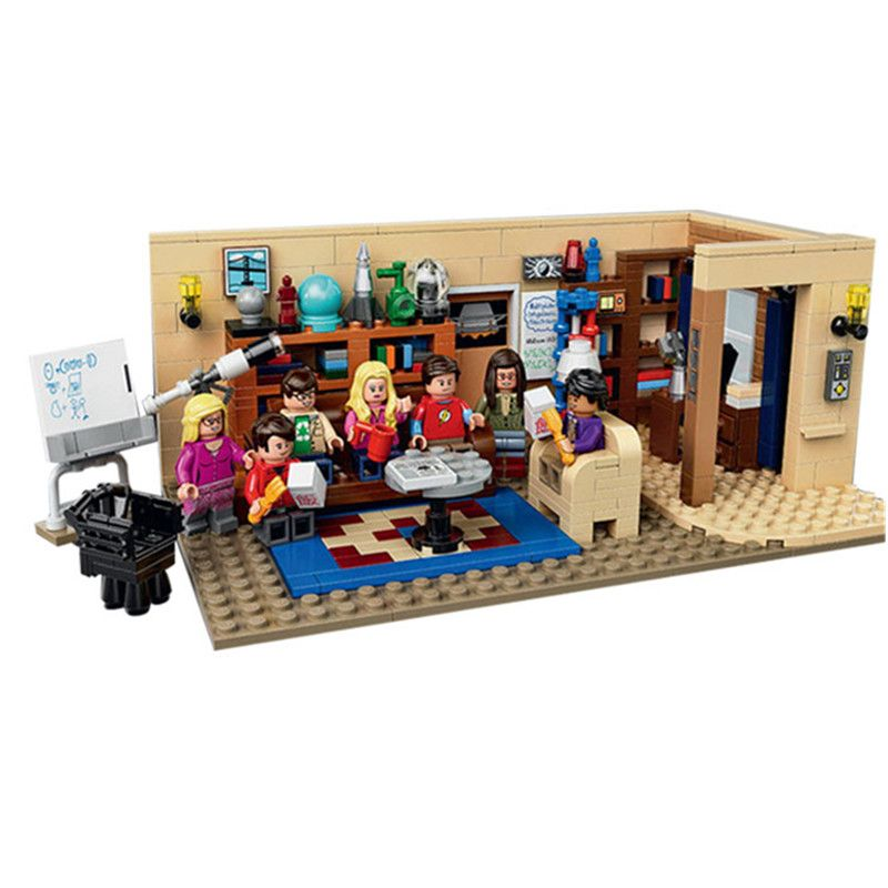 16024 LEPIN IDEAS Series The Big Bang Theory Model Building Blocks Enlighten Action Figure Toys For Children Compatible Legoe