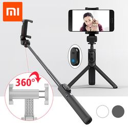 Original xiaomi handheld mini trípode plegable 2 en 1 monopod selfie stick Bluetooth inalámbrico obturador remoto para Android y iPhone