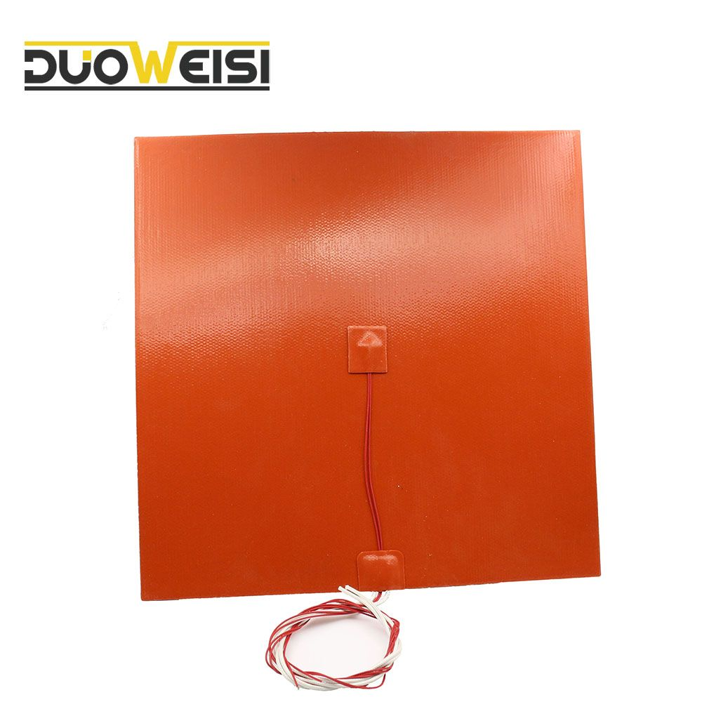 DuoWeiSi 3D Printer parts  220V 30x20CM 300W Waterproof Thermostor Silicone Heating Pad For 3D Printer Heated Bed