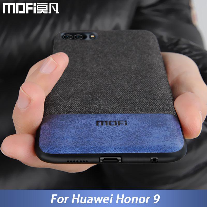 Pour Huawei honor 9 housse honor 9 couverture silicone bord antichoc hommes d'affaires tissu coque cas MOFi original pour honor 9