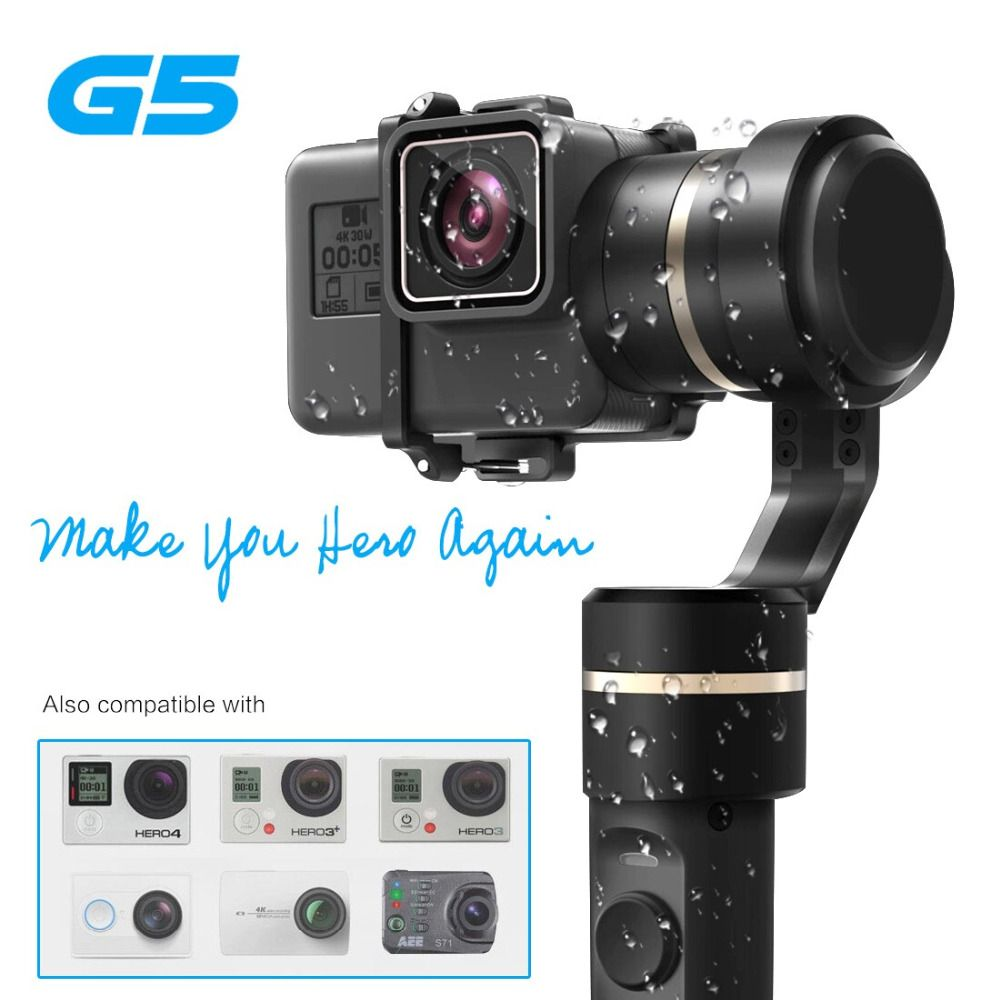 New version Feiyu G5 Handheld <font><b>Gimbal</b></font> for HERO5 5 4 Xiaomi yi 4k SJ AEE Action Cams of varies weigh Splashproof Humanized