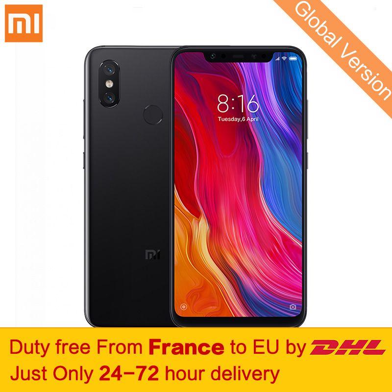 Free tax!Global Version Xiaomi Mi 8 Smartphone 6GB 64GB Snapdragon 845 Octa Core Dual-band GPS 6.21