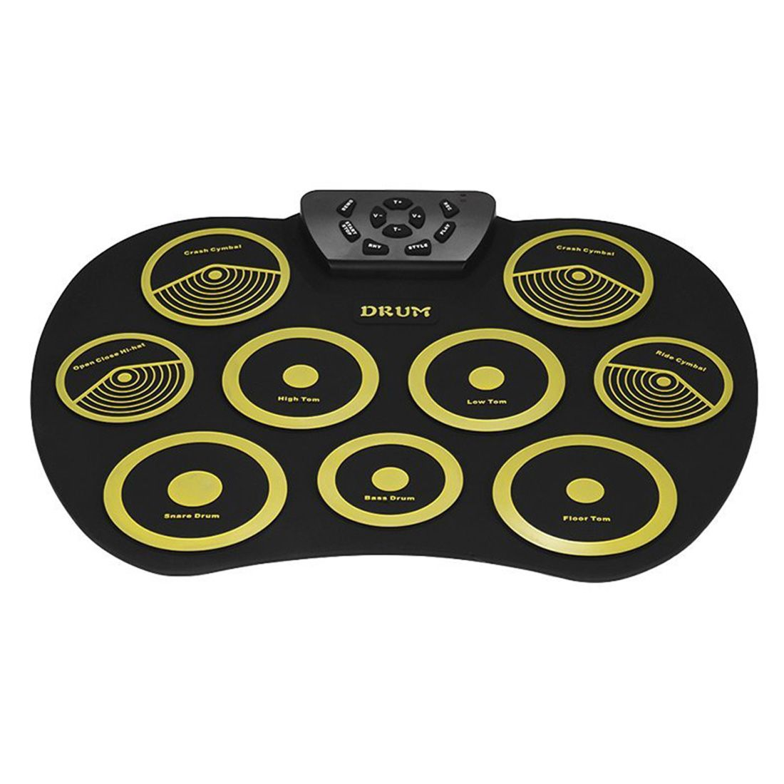HOT-Portable Electronics Drum Set Roll Up Drum Kit 9 Silicone Pads USB Powered with Foot Pedals Drumsticks USB Cable