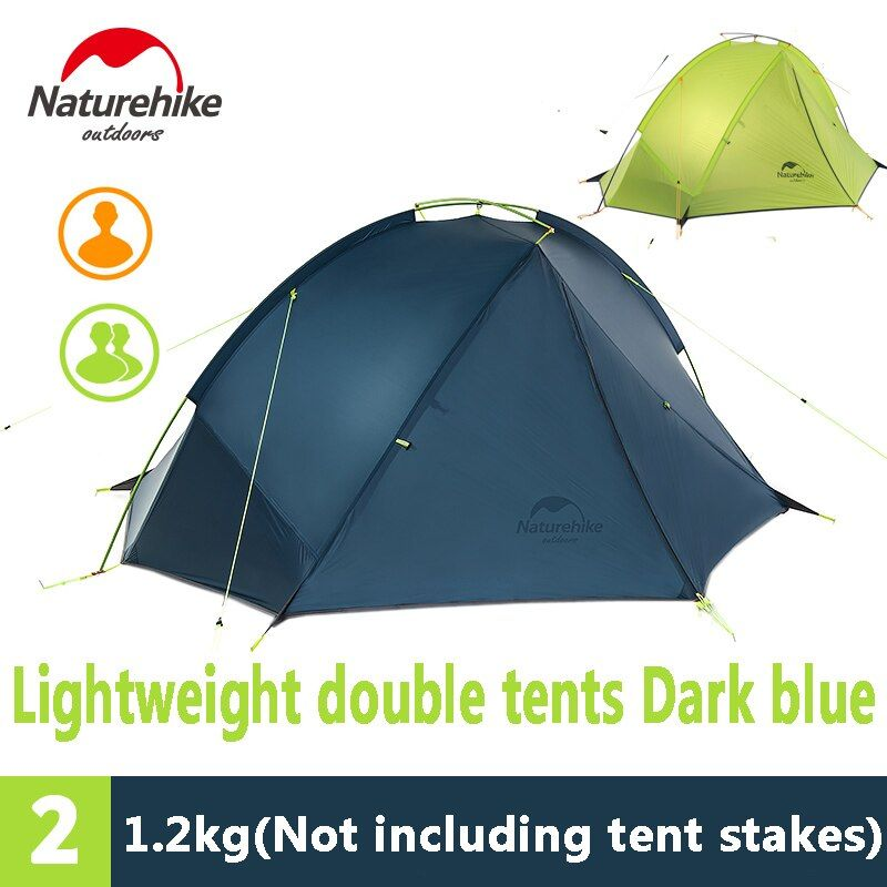 Naturehike 1 Person Tent Outdoor Camping Ultralight Waterproof Tent 20D NH17T140-J/NH17T180-J