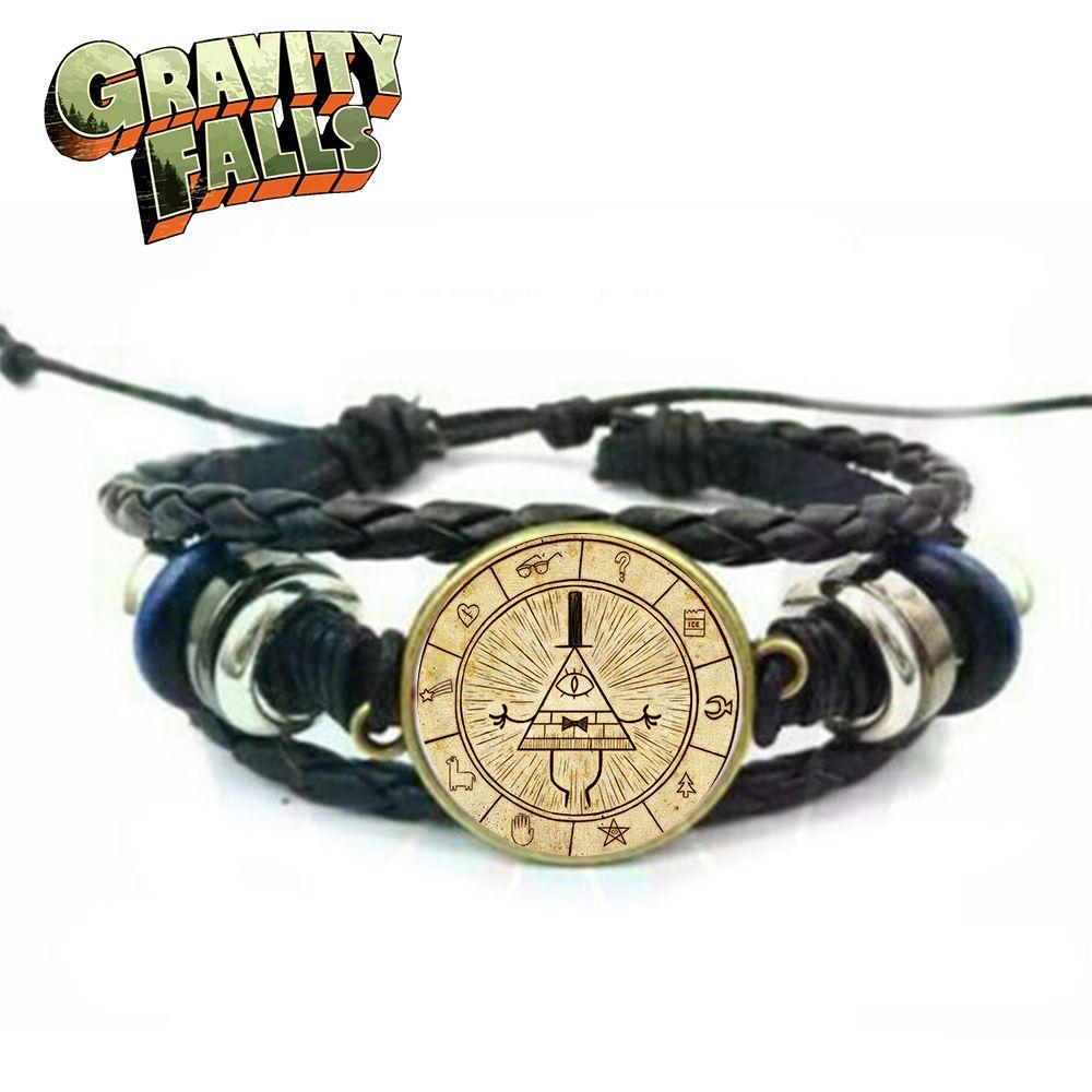 Schwerkraft Fällt Bill Chiffre Sternzeichen Symbol Charme Hand Kette Armband Wrist Strap Armband Schmuck Ornament Sammlung Geschenk Kühlen