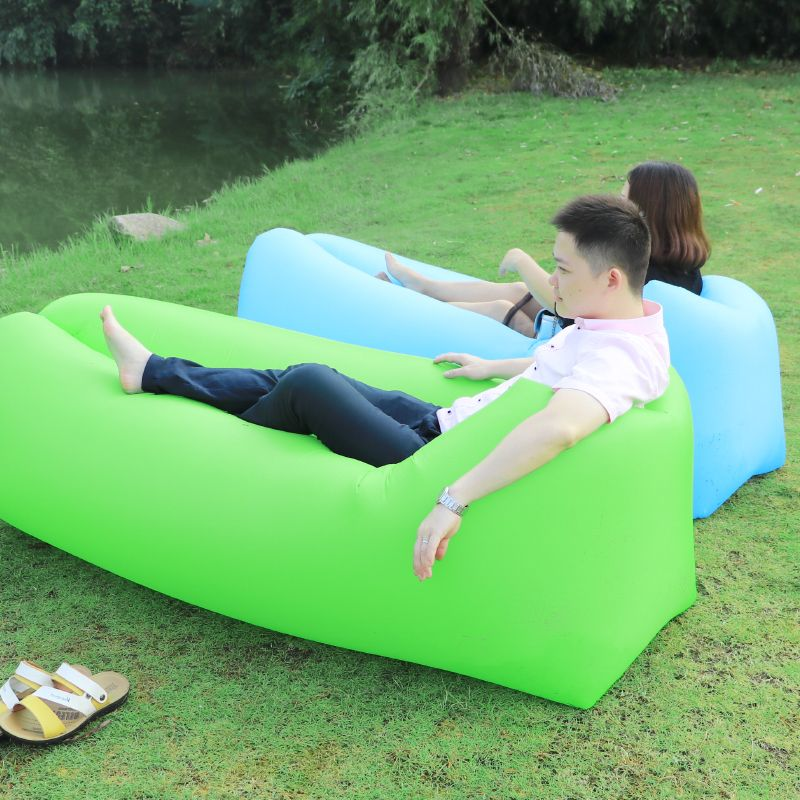 <font><b>Camping</b></font> Lazy Bag Lay Bag Sleeping Bag Fast Inflatable Air Sofa Beach Bed Lounger chair air Bag Banana sofa Laybag Air Furniture