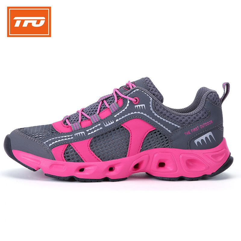 TFO Upstream Shoes for Women Quick-drying Sneakers Breathable Outdoor Wading Shoes Hiking Walking Sports Shoes Summer Aqua
