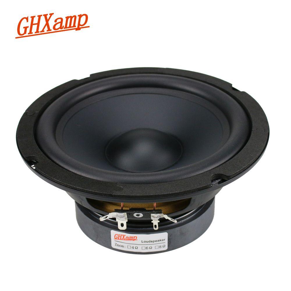 GHXAMP 6,5 zoll Mitte Bass Lautsprecher Einheit Tiefe Bass 8ohm 130 watt HIfi Heimkino Mediant Woofer Lautsprecher Gummi rand 1 stück