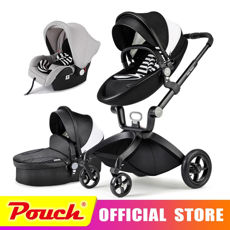 Hot Mom stroller stroller high landscape can sit or lie pneumatic wheels portable baby stroller trolley free delivery Hot Mom