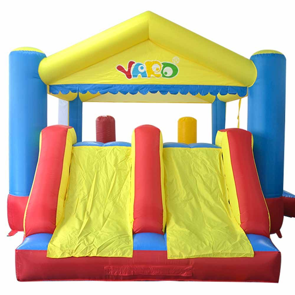 Dual Slide Inflatable Bounce House Combo Bouncer Bouncy Jumper With Obstacle Course Trampoline Kids Party Game