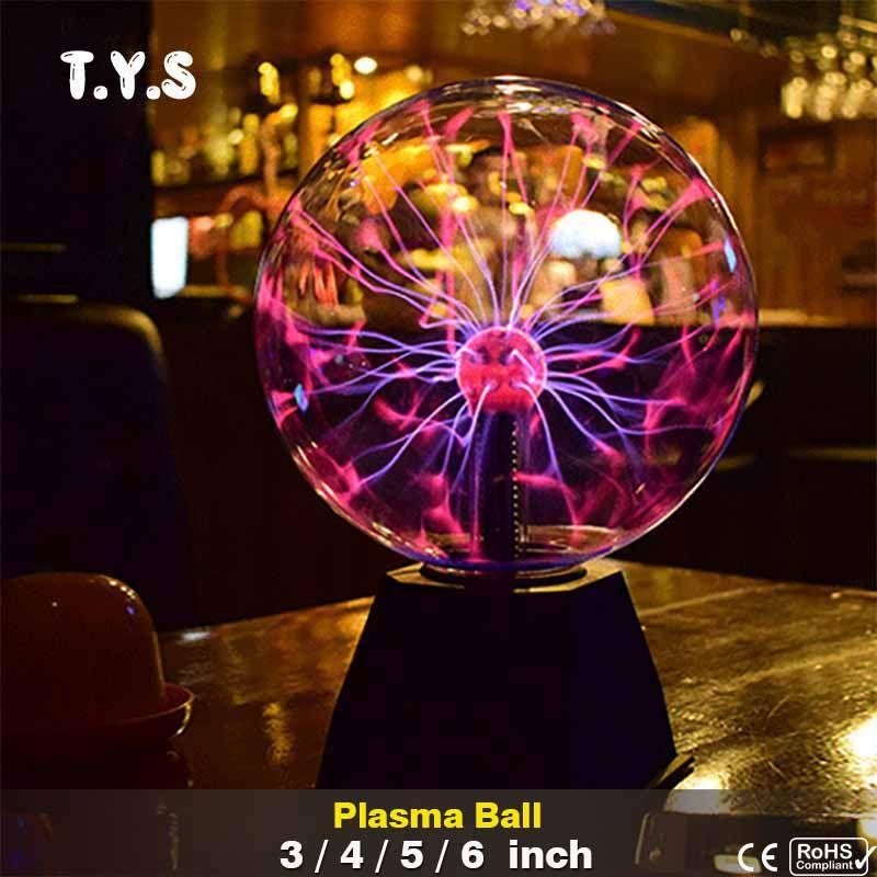 Новый Новинка магический кристалл плазменный шар Lava лампа творческий свет Выпускной на день рождения Рождество Детская комната Декор пода...