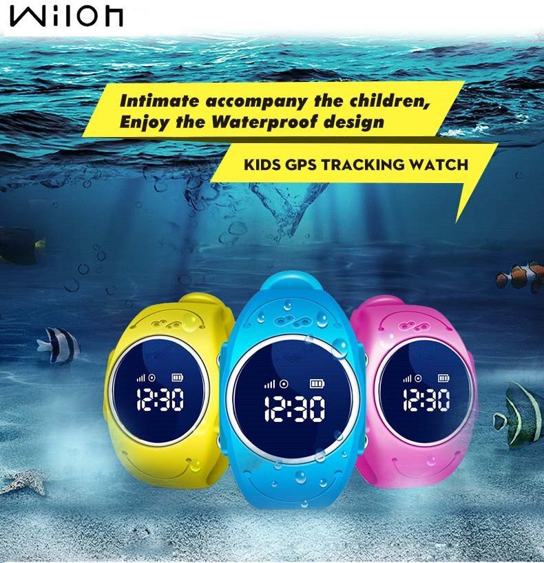2018 GPS Tracker Watch for Kids <font><b>Safe</b></font> GPS Watch waterproof Q520S smart Wristwatch SOS Call Finder Locator Tracker Anti Lost GSM