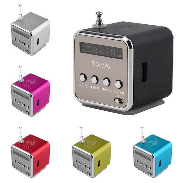 REDAMIGO TD-V26 Aluminium Digita linternet radio FM récepteur SD TF USB jouer stéréo Altavoz mini haut-parleur radio FM portable RU632