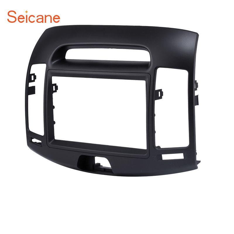 Seicane 178*102 mm Double Din Black Car Radio Fascia Frame Cover Trim Kit Panel For HYUNDAI ELANTRA (European LHD)