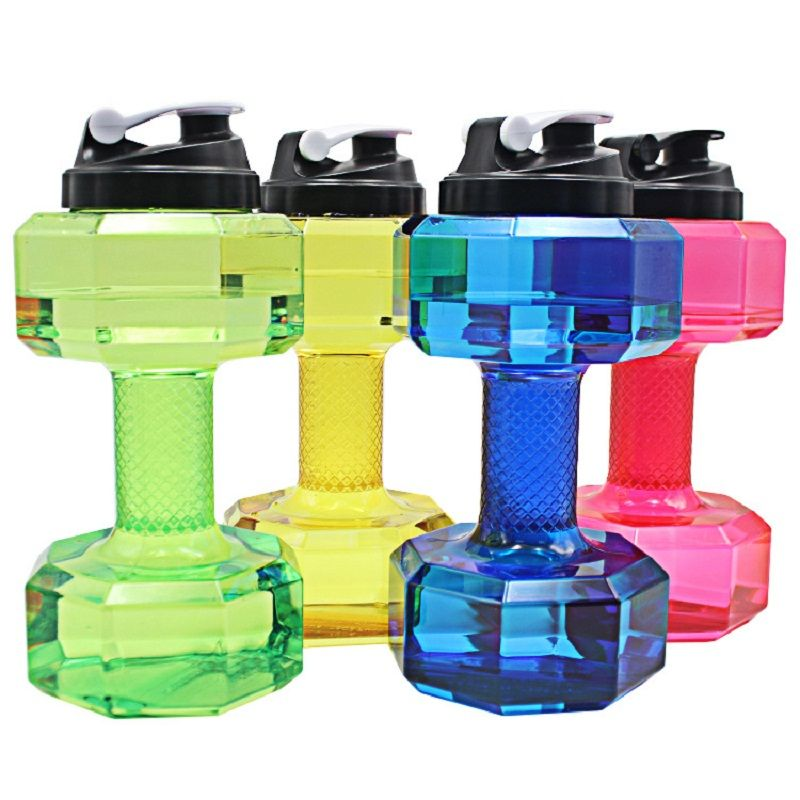 2.5L Dumbbells Shaped Plastic Big Large Capacity Gym Sports Water Bottle Outdoor Fitness Bicycle Bike <font><b>Camping</b></font> garrafa