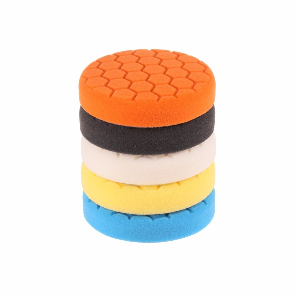 SPTA 3 inch (80mm) Buffing Pad Polishing Buffer Pads kit For Car Buff Polisher -Professional Quality Pack Of 5Pcs