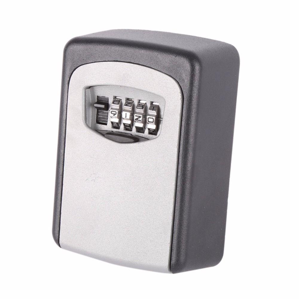 Useful Outdoor Safe Key Box Key Storage Organizer With 4 Digit Wall Mounted Combination Password Keys Hook Organizer Boxes CN12