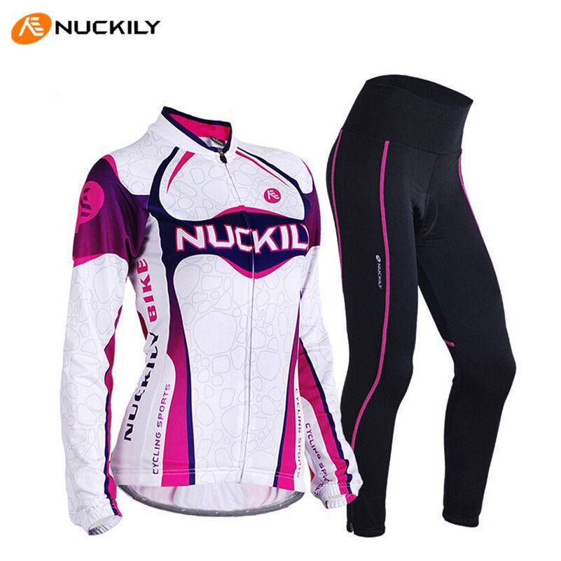 NUCKILY 2017 Weibliche Sport Bike Kleidung Hosenanzug Gel Pads Trikots Atmungs Pro Sonnencreme Radfahren Fahrrad Jersey Radfahren Sets