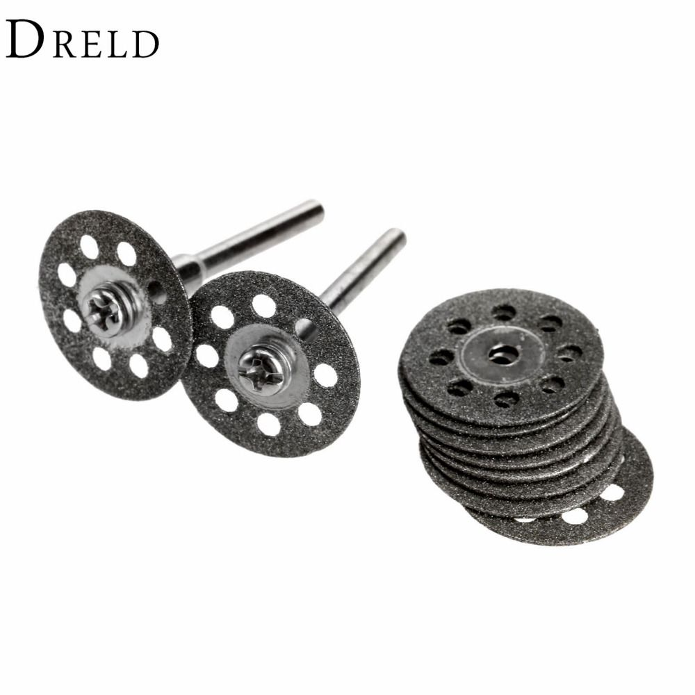 10Pcs Dremel Accessories 20mm Diamond Dremel Cutting Disc for Metal Grinding Wheel Disc Mini Circular Saw for Drill Rotary Tool