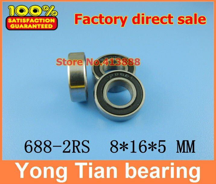 (1pcs) SUS440C environmental corrosion resistant stainless steel bearings (Rubber seal cover) S688-2RS 8*16*5 mm