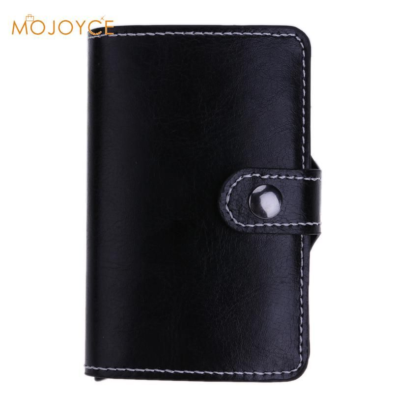 Antitheft Metal Men's Credit Card Holder PU Wallet Men Mini Wallet Aluminium RFID Blocking High Quality Credit Card Holder 2017