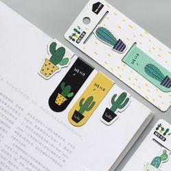 Симпатичные кактус магнитные закладки бумажные клип наклейки на холодильник школьные офисные поставки Escolar Papelaria подарок канцелярские при...