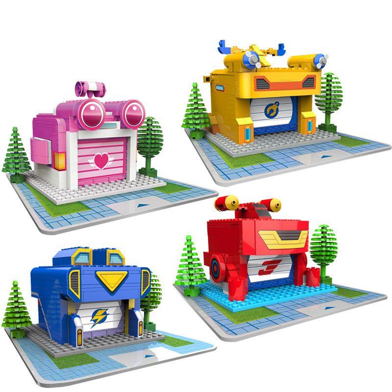 SHINEHENG Super ailes avion Base assemblage blocs de construction éducatifs bricolage modèles jouets anniversaire cadeau de noël pour les enfants