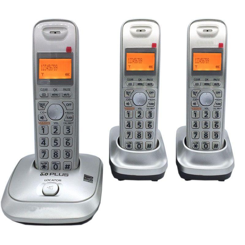 Anglais Langue DECT 6.0 Plus 1.9 GHz Numérique Sans Fil Téléphone Call ID Mains Libres DEL Sans Fil Téléphone À La Maison Pour Le Bureau Bussiness
