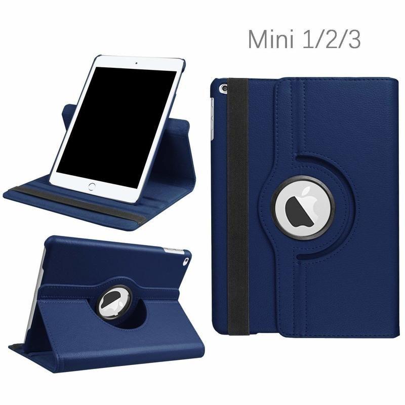 360 Degree Rotating Stand Case For iPad Mini 1 2 3 Case PU Leather Smart Flip Cover For Funda iPad Mini Case Cover Sleep/Wake UP