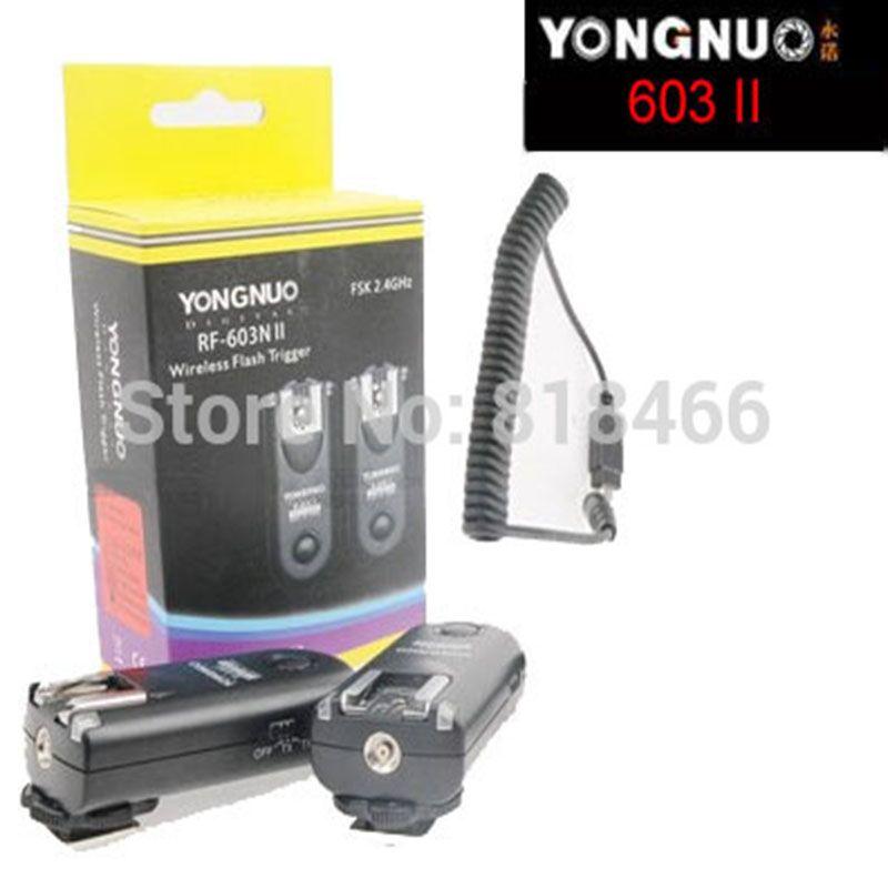 New designed Yongnuo RF-603II N3, RF603 ii RF 603 Flash Trigger 2 Transceivers for Nikon D90/D5000/D3100/D3200/D7000//D5100/D600
