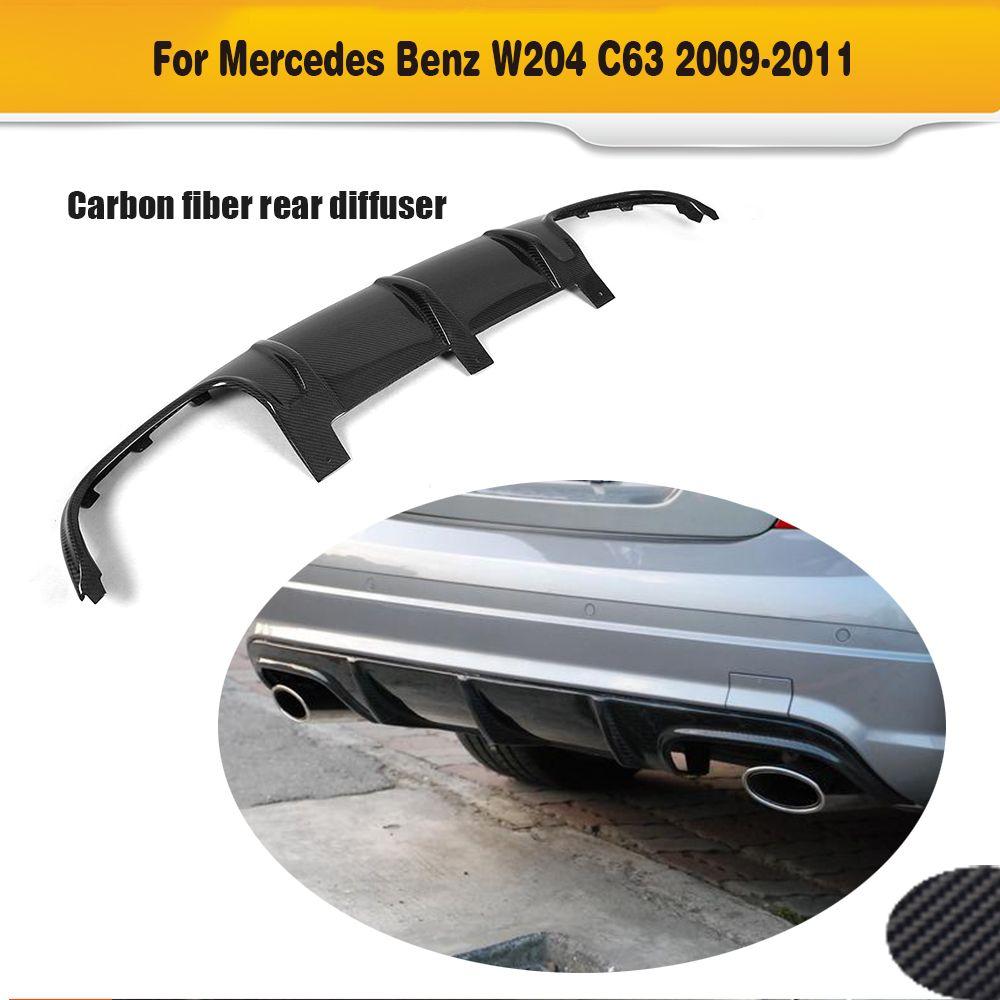 C Klasse Carbon Faser Auto Heckschürze lippe diffusor für Mercedes Benz W204 C63 AMG 2008 2009 2010 2011 O stil