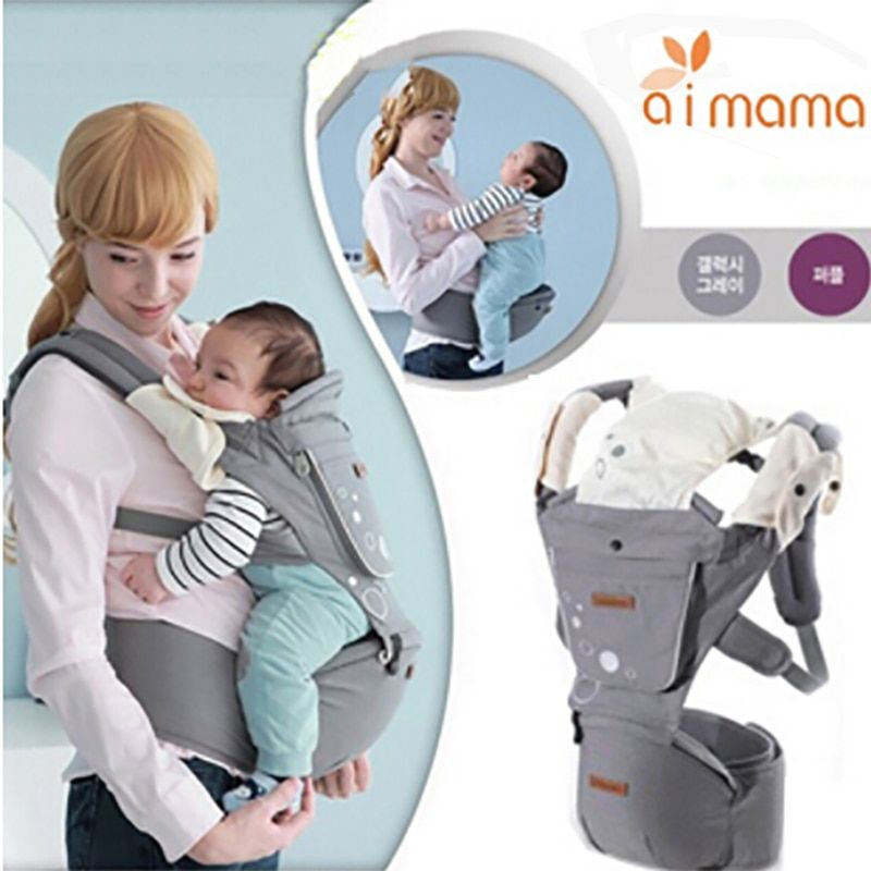 Aimama Multifunction Outdoor Kangaroo Baby Carrier Sling Backpack New Born Baby <font><b>Carriage</b></font> Hipseat Sling Wrap Summer and Winter