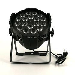 En alliage d'aluminium LED Par 18x12 W RGBW 4in1 LED Par Can Par 64 a mené le projecteur dj projecteur lavage éclairage éclairage de scène