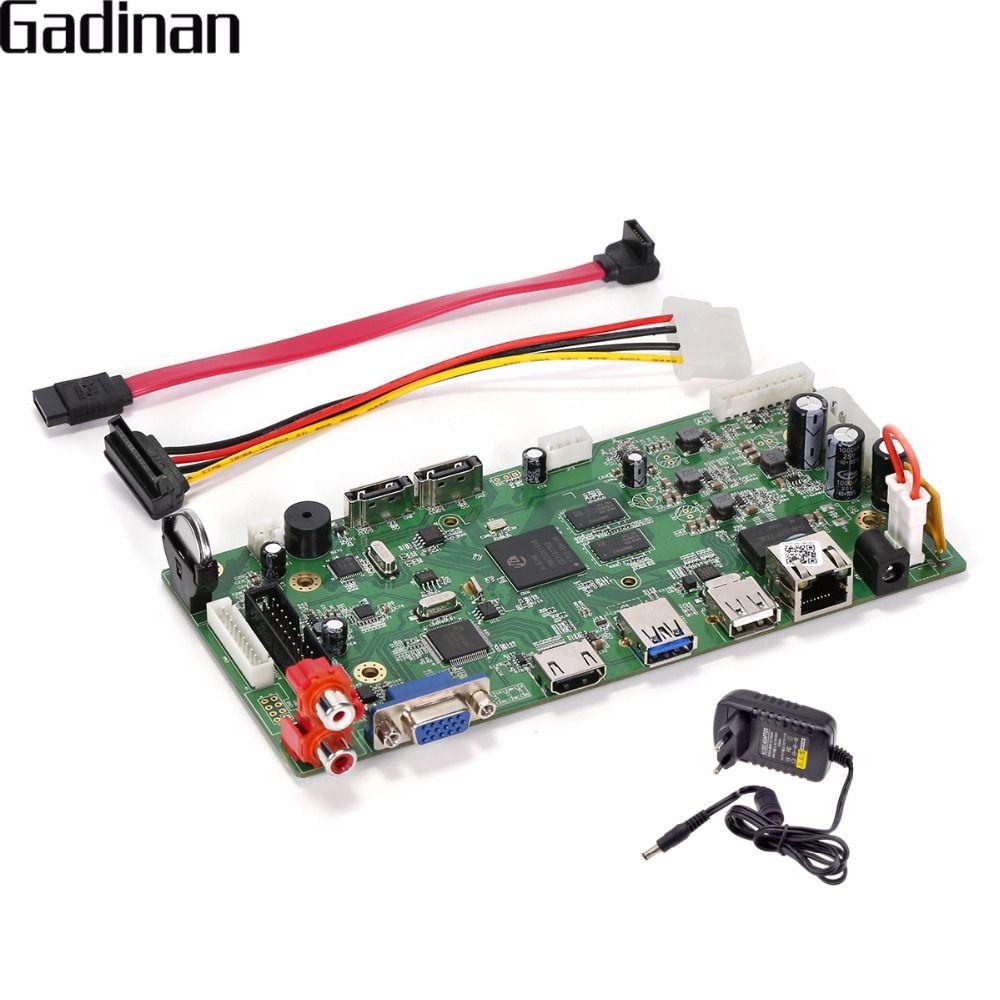 GADINAN 16CH 4MP CCTV NVR Hi3798C Prozessor Sicherheit Netzwerk Recorder NVR Hauptplatine Unterstützung Wifi 3G RTSP 8ch 4 Karat/8ch 5 Mt/16ch 3 Mt