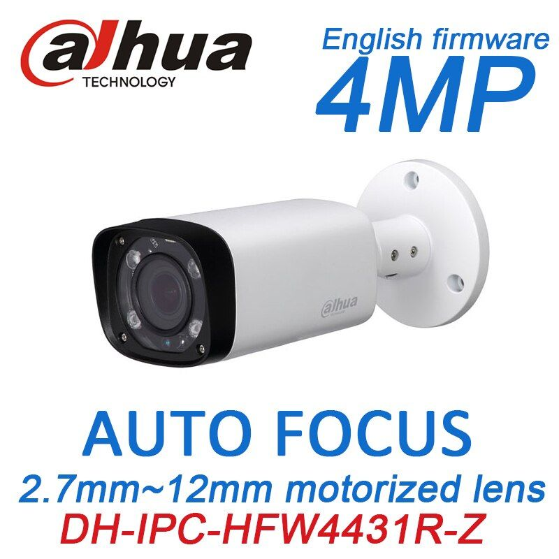 Dahua 4MP POE CCTV camera iPC-HFW4431R-Z 2.8~12mm Varifocal Motorized Lens English firmware IR Network IP Bullet Camera