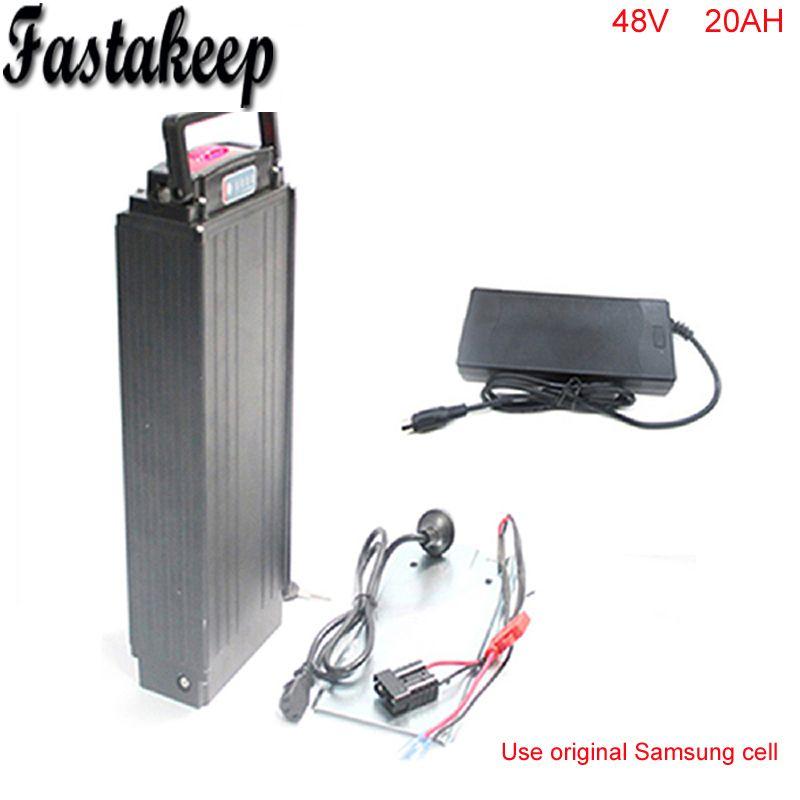 rear rack 48V 1000W electric bike battery 48v 20ah electric bicycle battery 48v 20ah lithium ion battery+ Power tail lights