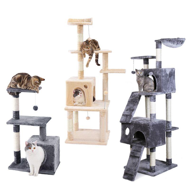 Domestic Lieferung Katze Spielzeug Kratzen Holz Klettern Baum Maus Spielzeug Katze Springen Spielzeug Klettergerüst Katze Möbel Kratzen Post