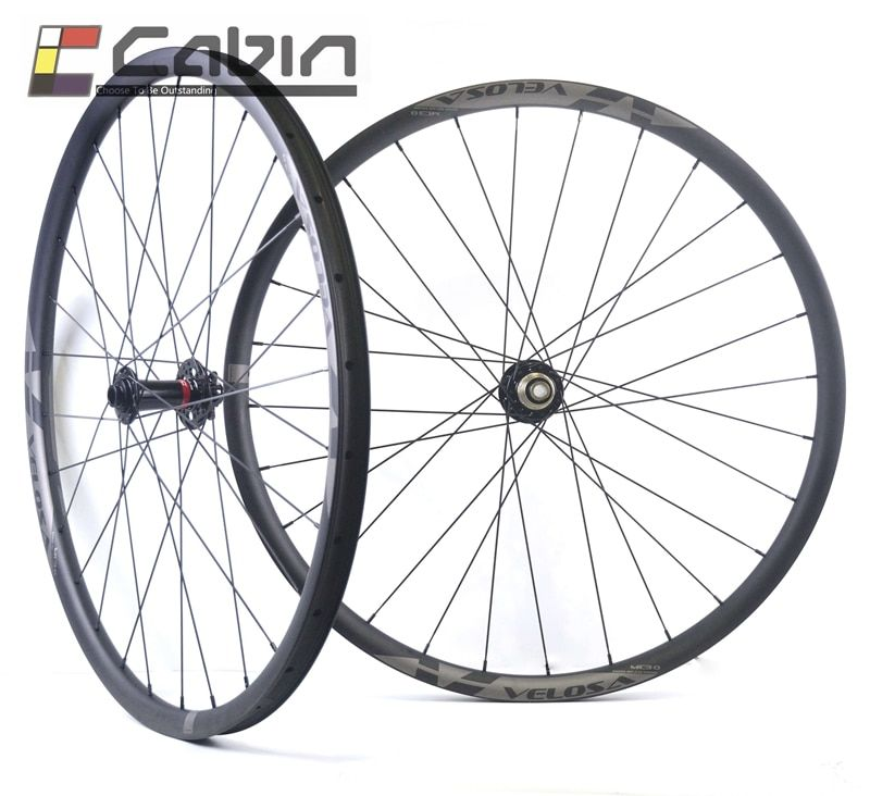 MTB XC/AM hookless carbon wheels with Novatec D791/792 hubs, 29inch asymmetric wheels,tubeless compatible, boost version