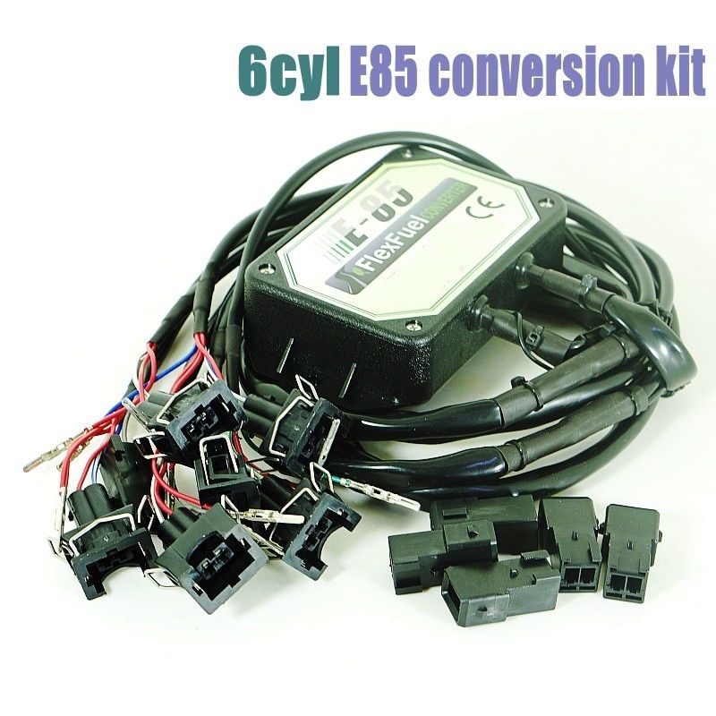 DHL Freies E85 Flex Kraftstoff Conversion Kit 6cyl mit Kaltstart Asst., Temp. sensor, biokraftstoff e85, ethanol auto, bioethanol konverter