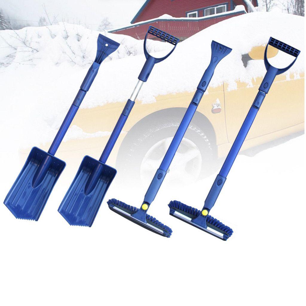 Car Snow Shovel set Multi-function Removal Suit Ice Snow Shovel Brush Scraper Extendable Car 4 in 1 dropship D4