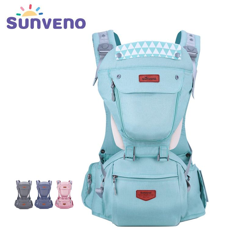Sunveno baby travel backpack ergonomic baby carrier baby wrap front carry baby sling front facing kangaroo carrier 0-36 months