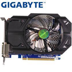 GIGABYTE Carte Graphique D'origine GTX 750 1 GB 128Bit GDDR5 Vidéo Cartes pour nVIDIA Geforce GTX750 Hdmi Dvi Utilisé VGA Cartes Sur Vente
