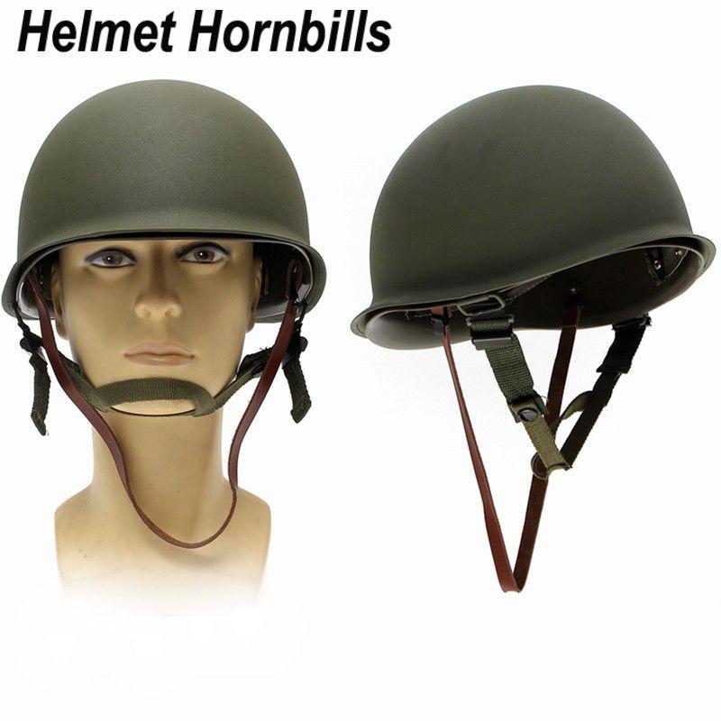 Новый Реплика WW2 M1 армии США Военная Униформа металлический шлем для Охота Airsoft защитный шлем
